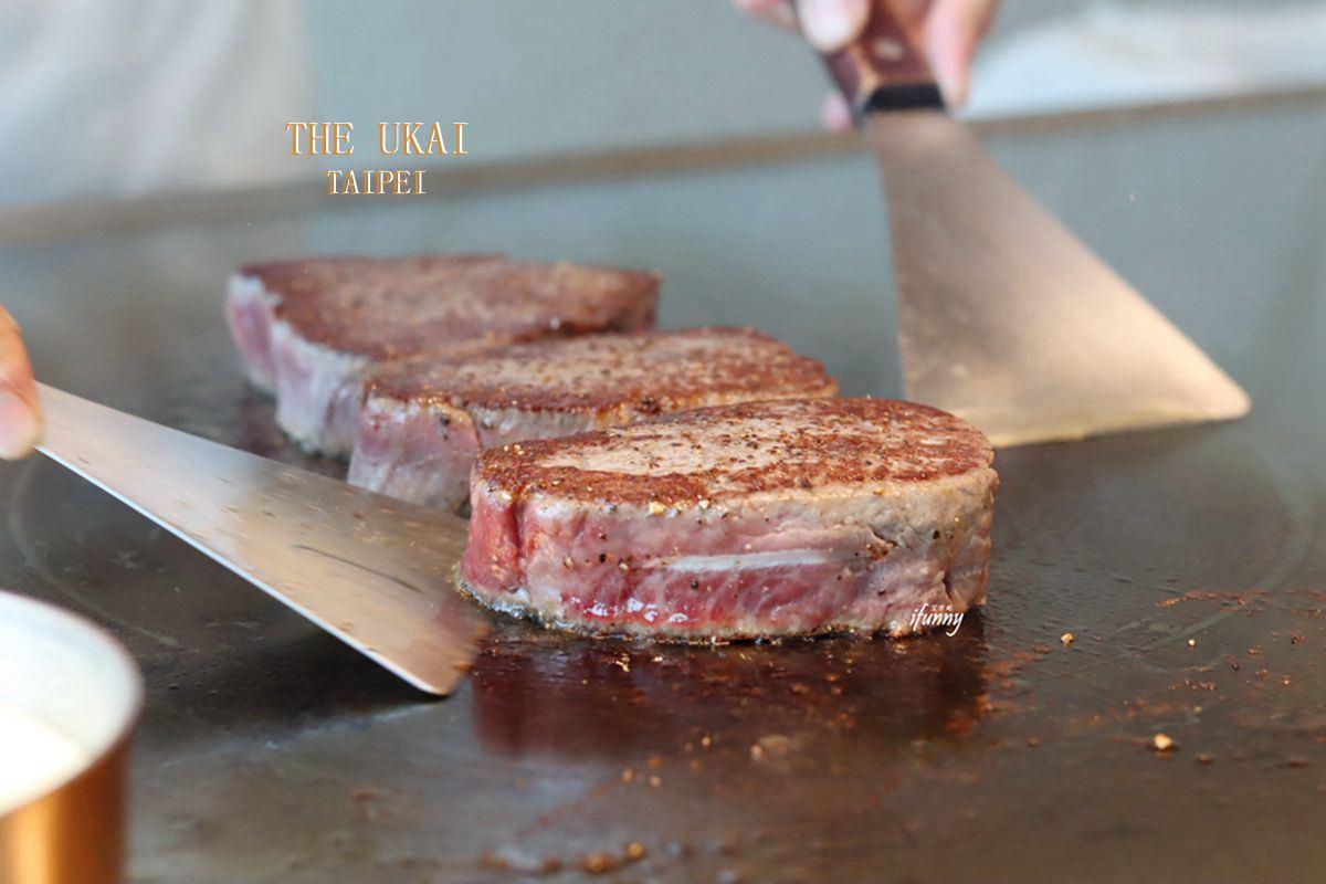 [微風南山美食]THE UKAI TAIPEI~全球第一家米其林鐵板燒~46樓+180度絕美景觀~超凡的用餐體驗