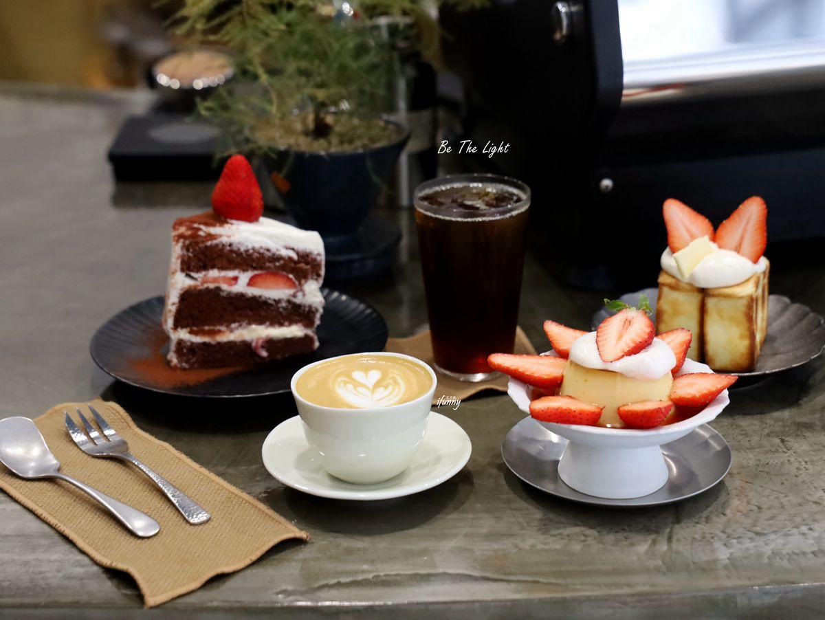 板橋站 | Be The Light 新店址 自家烘焙咖啡豆 草莓蛋糕/布丁/吐司