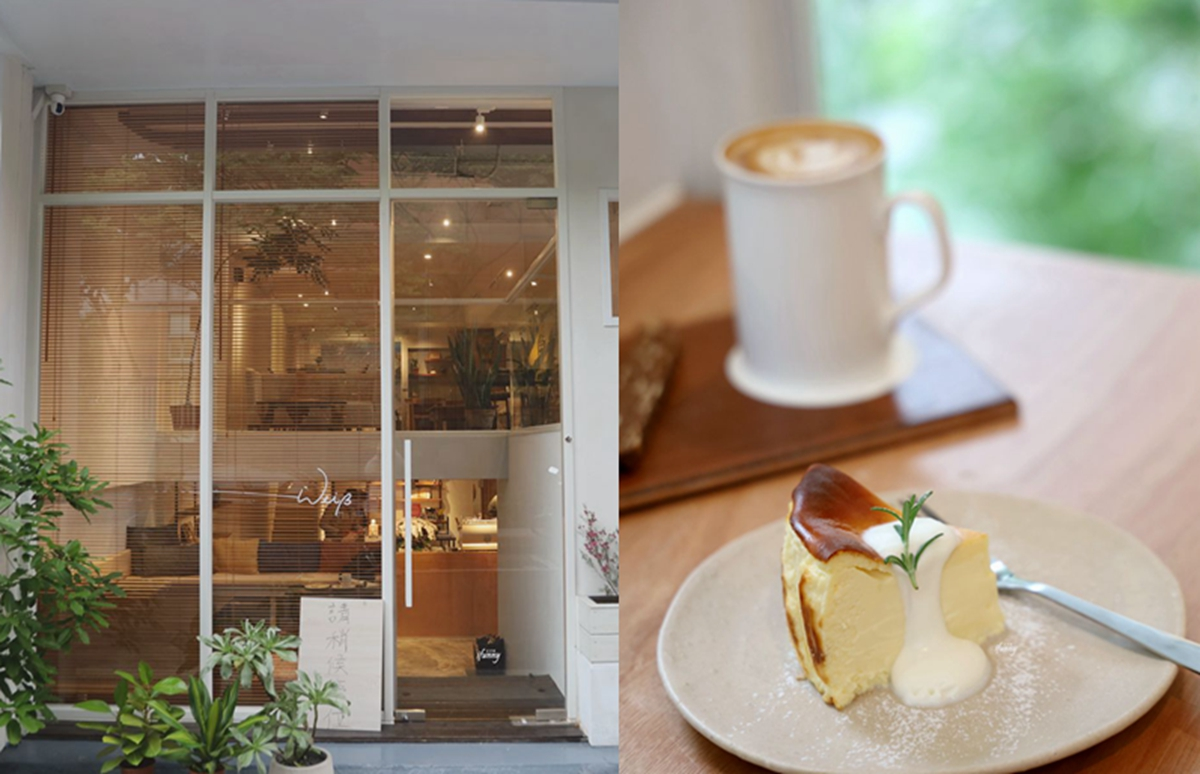 天母美食   Weiss Cafe 純白韓風外觀試營運中  公館人氣甜點Flügel Studio二店