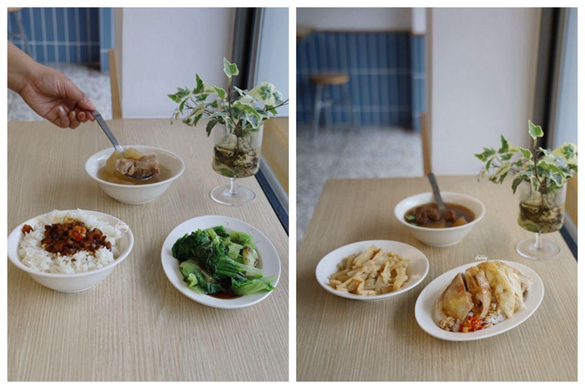 板橋站 | 海山魯肉飯  清新文青風  套餐附有小菜及湯品 個人獨享也好滿足